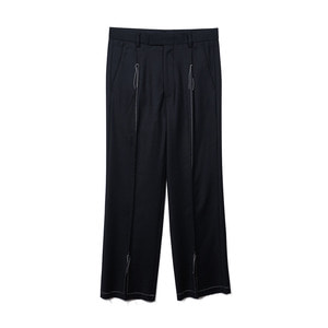 "OOPARTS OPT18FWPT04BK Center Slit Wool Pants ""Black"""