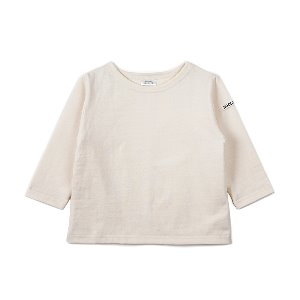 "NOCLAIM Kids Boat-neck Basque Shirt ""Ivory"""