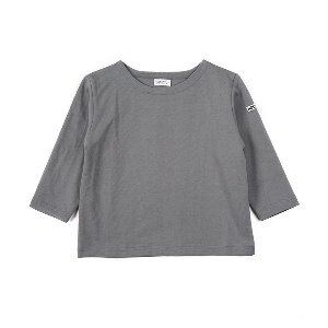 "NOCLAIM Kids Boat-neck Basque Shirt ""Grey"""