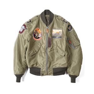 "BUZZ RICKSON'S BR14187 L-2 4th FTR.INTCP.SQ Jacket ""Olive"""