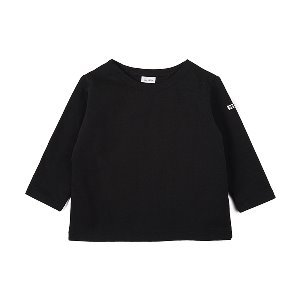 "NOCLAIM Kids Boat-neck Basque Shirt ""Black"""