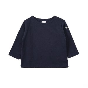 "NOCLAIM Kids Boat-neck Basque Shirt ""Navy"""