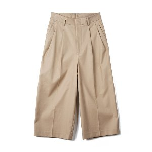 "OOPARTS OPT18FWPT02KH Two Pleat Wide-leg Pants ""Khaki"""