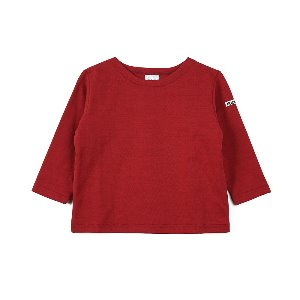 "NOCLAIM Kids Boat-neck Basque Shirt ""Red"""