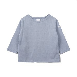 "NOCLAIM Kids Boat-neck Basque Shirt ""Sky"""