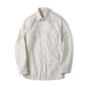 "SHIRTER Flap Pocket Oxford Shirt ""Ivory"""