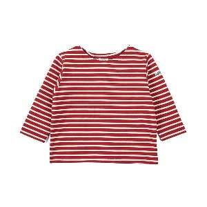 "NOCLAIM Kids Boat-neck Basque Shirt ""Red x Ivory"""