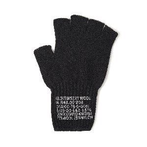 "YMCL KY US Military Wool Fingerless Glove ""Black"""