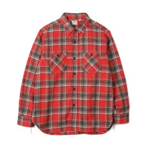 "SUGAR CANE SC27964 Twill Check L/S Work Shirt ""Red"""