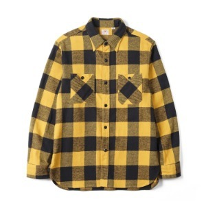 "SUGAR CANE SC27963 Twill Check L/S Work Shirt ""Yellow"""