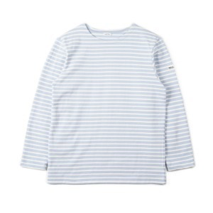"NOCLAIM Boat-neck Basque Shirt ""Sky x Ivory"""
