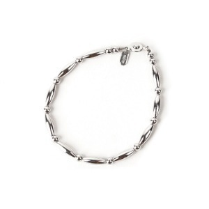 "MOLLIVE SV Beads Bracelet Mens ""Rhodium Coating"""