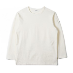 "NOCLAIM Boat-neck Basque Slit Shirt ""Ivory"""