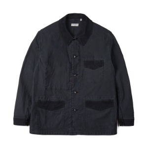 "SUGAR CANE LIGHT SC14376 Grosgrain x Herringbone Work Jacket ""Black"""