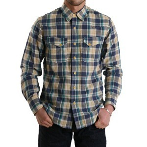 "BURGUS PLUS Madras Broad Check L/S Shirt ""Green"""