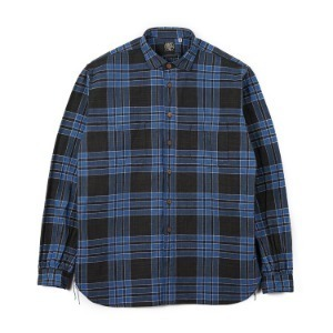 "SUGAR CANE SC28092 Fiction Romance 5oz. Indigo Check Work Shirt ""Navy"""