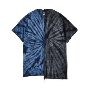 "OAXACA TieDye Tee Shoulder Tape ""Navy / Black"""