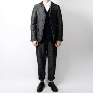 "ORDINARY FITS OM-T032 Farmers Jacket Linen Wool ""Charcoal"""