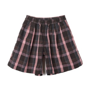"KAPTAIN SUNSHINE Athletic Wide Shorts ""Charcoal Plaid"""
