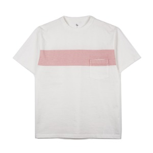 "KAPTAIN SUNSHINE West Coast Tee ""White x Salmonpink Line"""