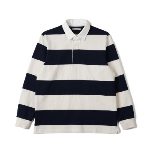 "BANTS FLB Stripe Cotton Rugby T-shirt ""Off White x Navy"""