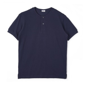 "NOCLAIM Round Neck Polo Shirt ""Navy"""