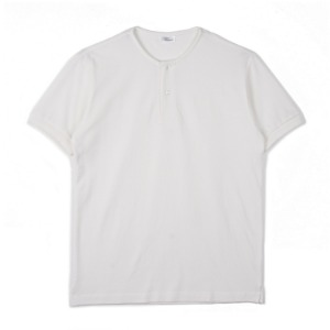"NOCLAIM Round Neck Polo Shirt ""Off White"""