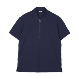 "NOCLAIM Zip Up Polo Shirt ""Navy"""