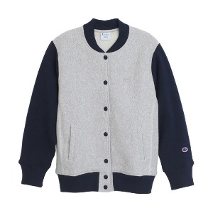 "CHAMPION Reverse Weave Baseball Jacket CW-G008 ""Grey(040)"""