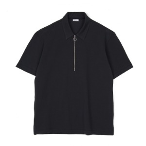 "NOCLAIM Zip Up Polo Shirt ""Black"""