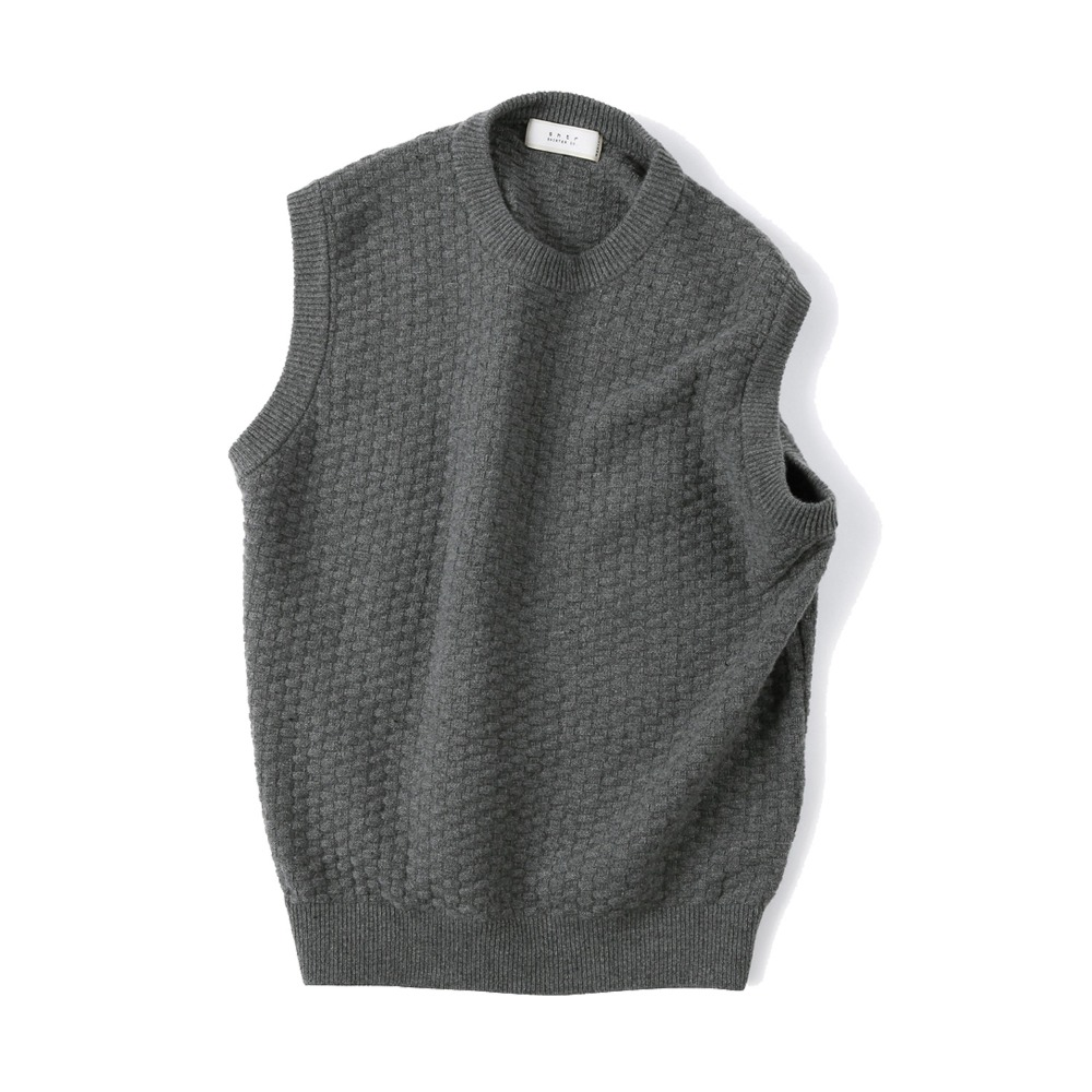 "SHIRTER Tasmania Wool Cashmere Vest ""Dark Grey"""
