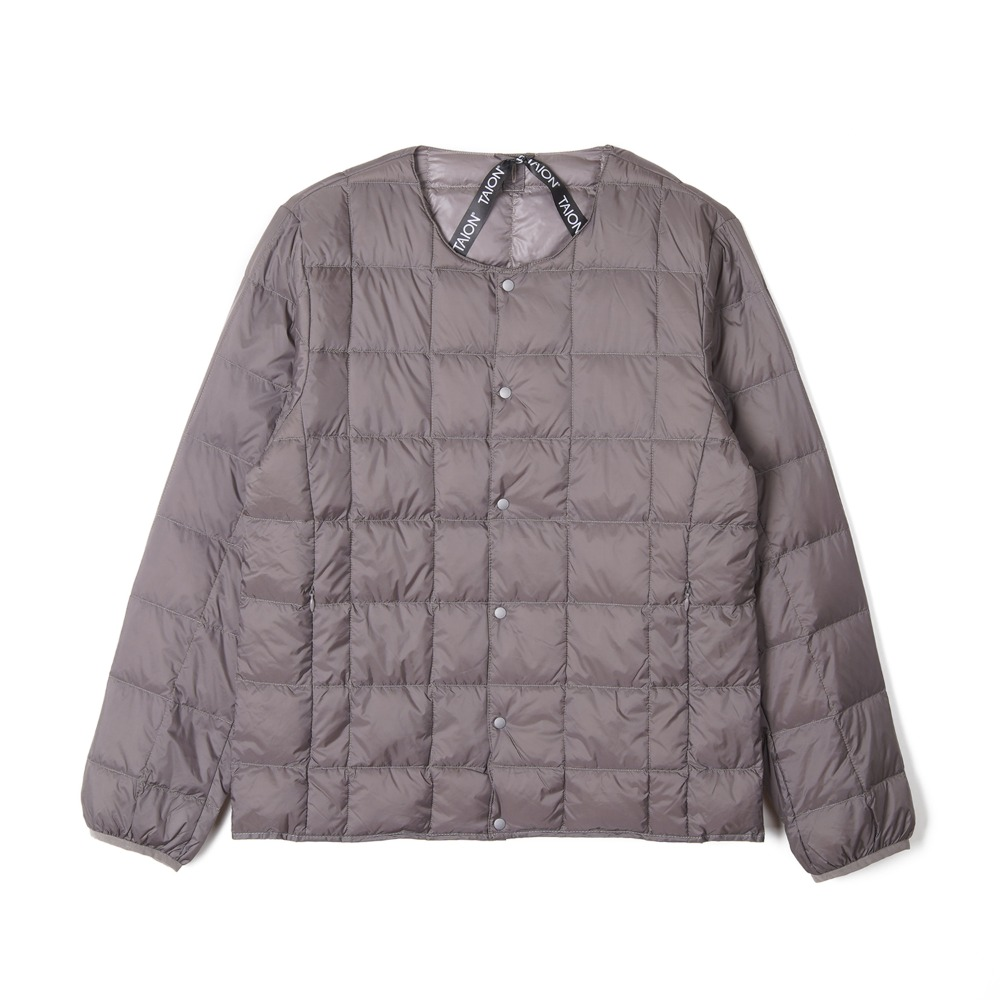"TAION Crew Neck Button Down Jacket ""Grey"""