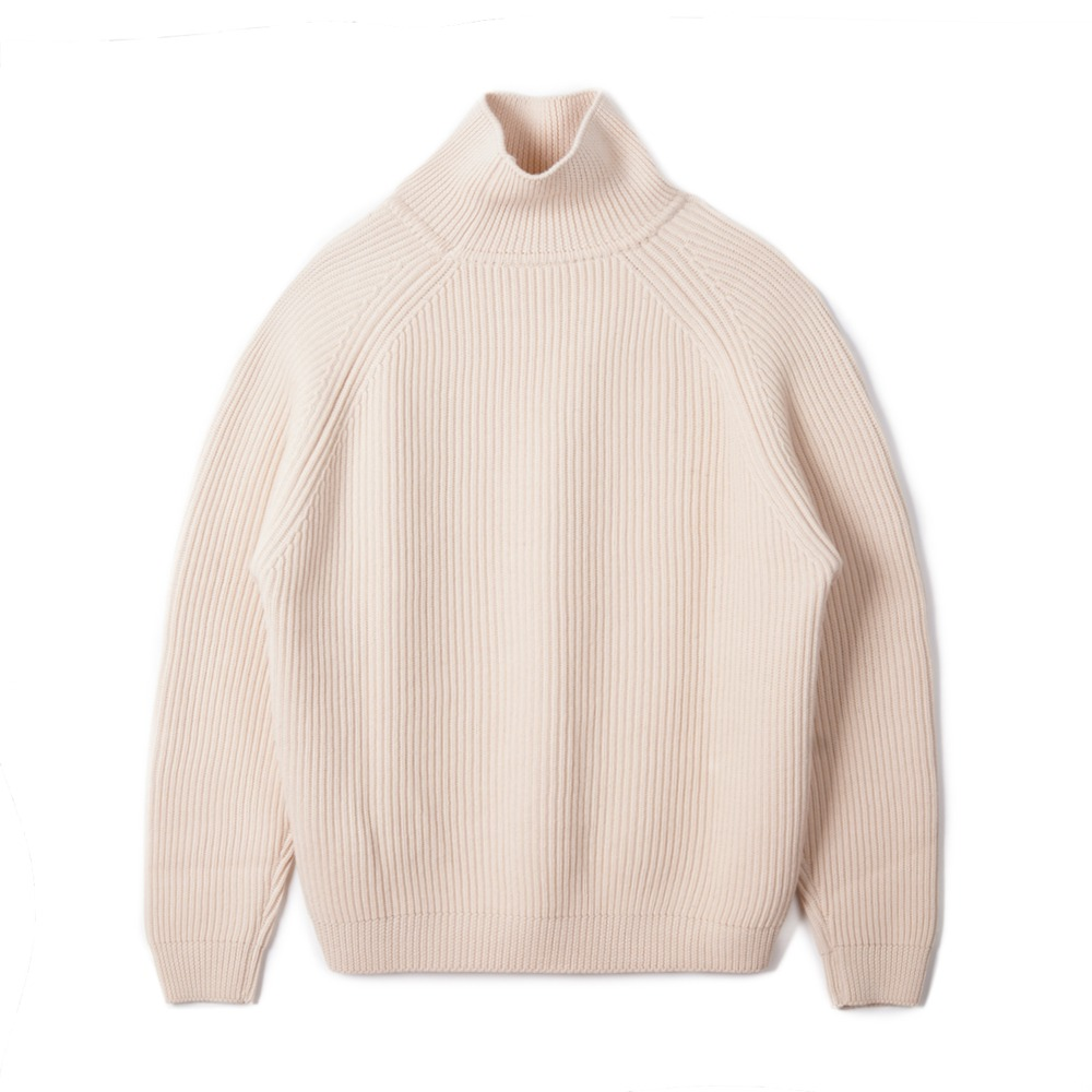 "BUNT Grandfather High Neck Sweater ""Ecru"""