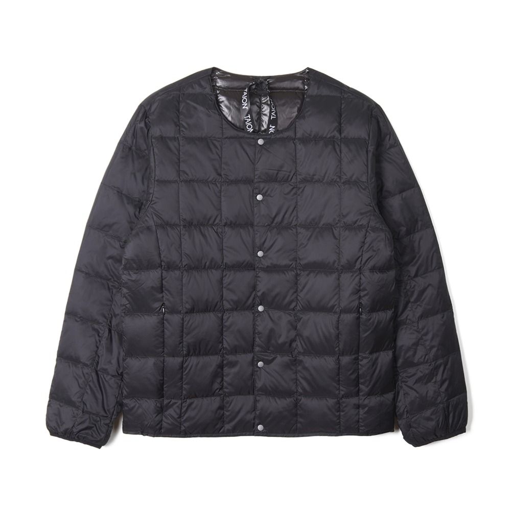 "TAION Crew Neck Button Down Jacket ""Black"""