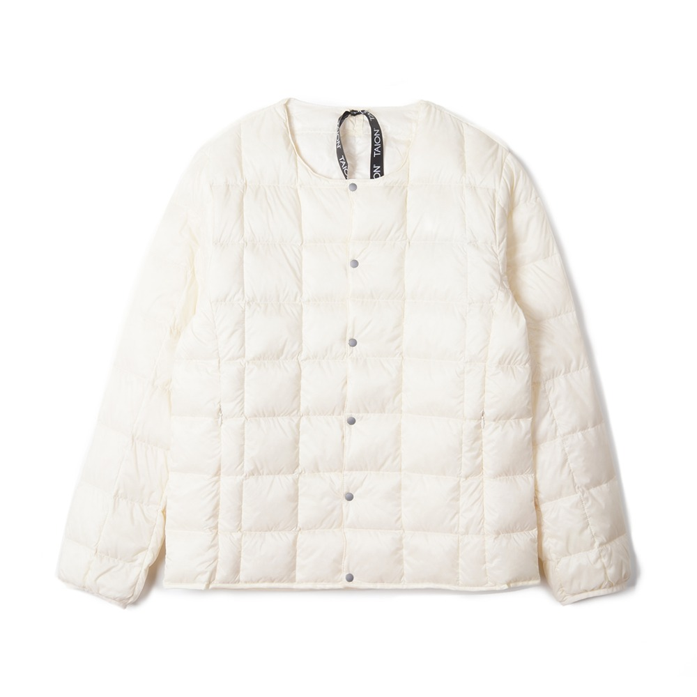 "TAION Crew Neck Button Down Jacket ""Off White"""