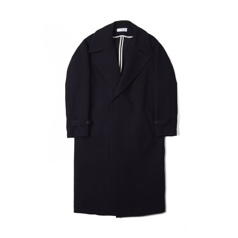 "BUNT Big Collar Gown Coat ""Navy"""