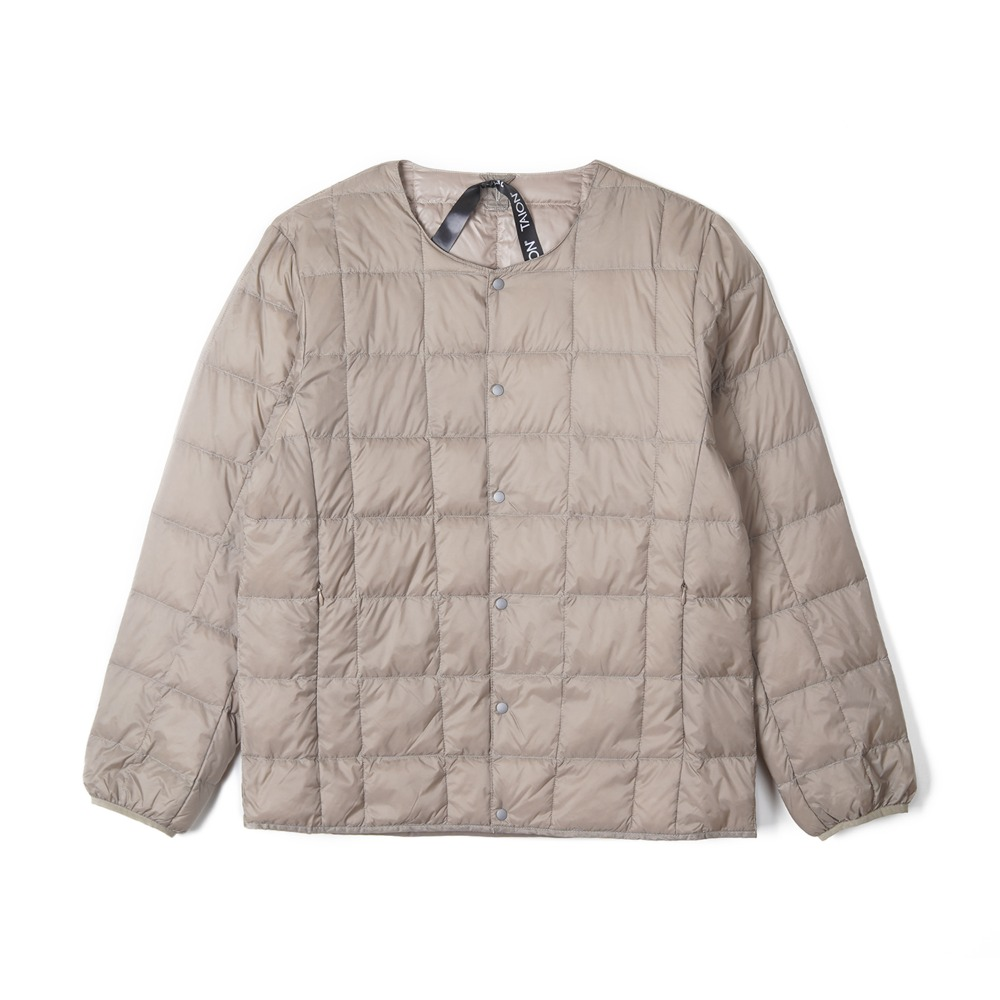 "TAION Crew Neck Button Down Jacket ""Khaki"""