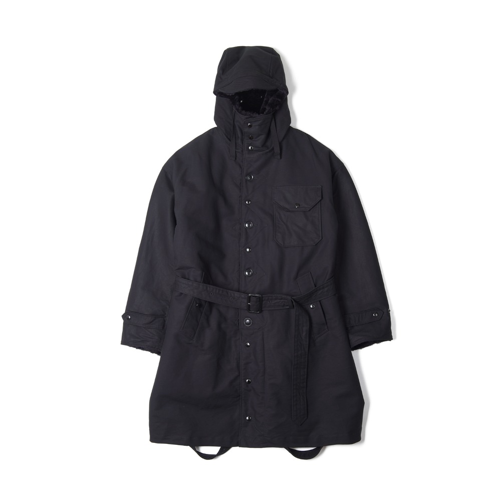 "ENGINEERED GARMENTS Coastline Parka ""Black Cotton Double Cloth"""