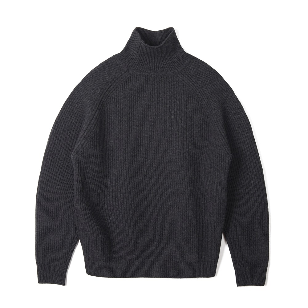 "BUNT  Grandfather High Neck Sweater ""Charcoal"""