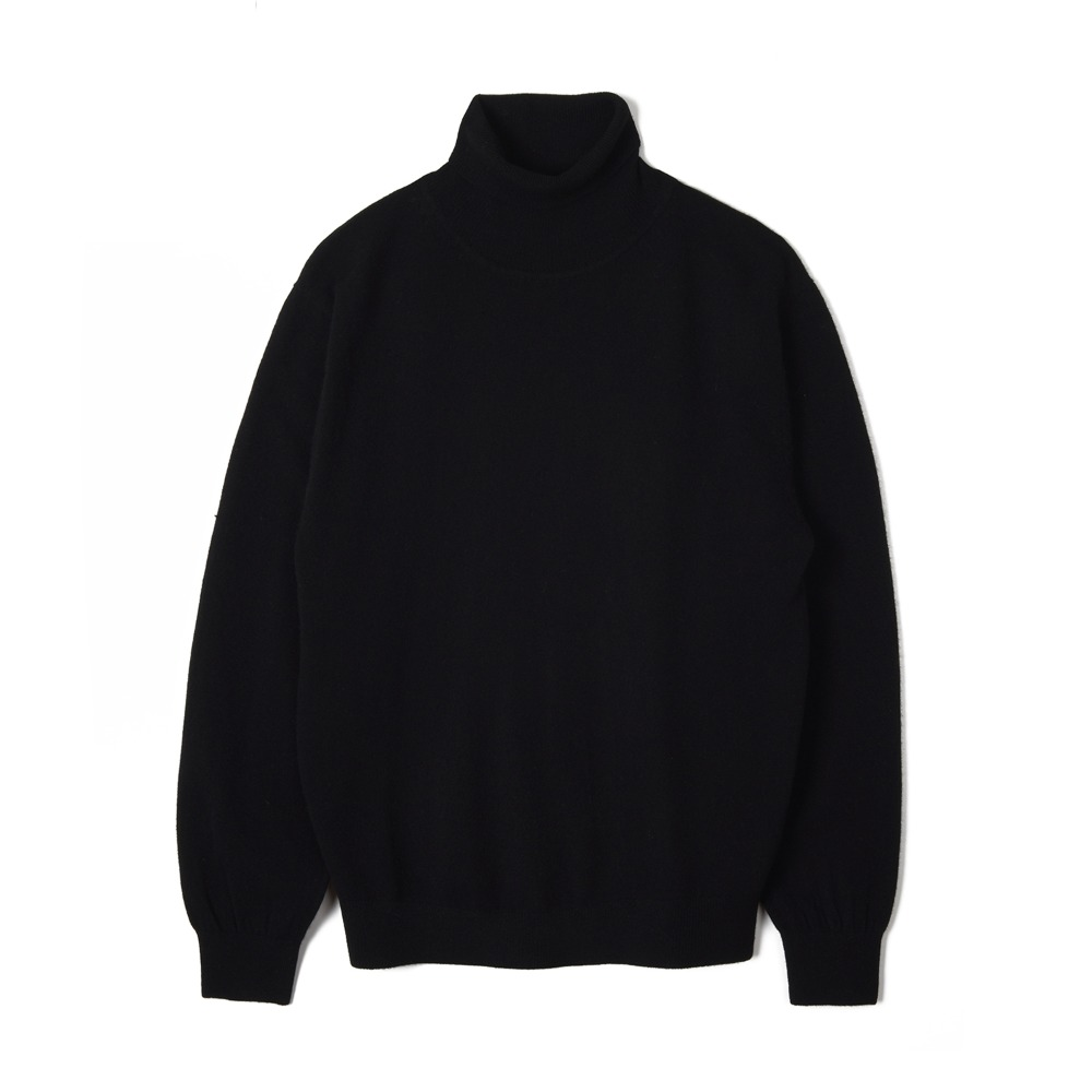 "TRICOTER Cashmere Blend Rollneck Sweater ""Black"""