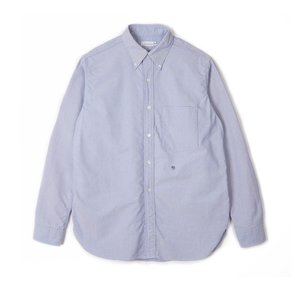 "NANAMICA Button Down Wind Shirt ""Blue"""