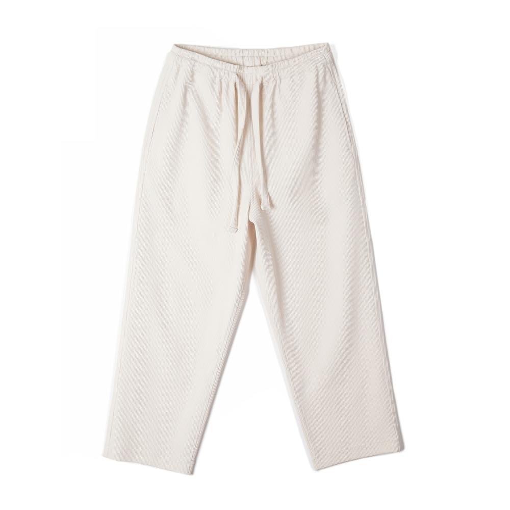 "BUNT Knitted Corduroy Comfy Pants ""Ivory"""