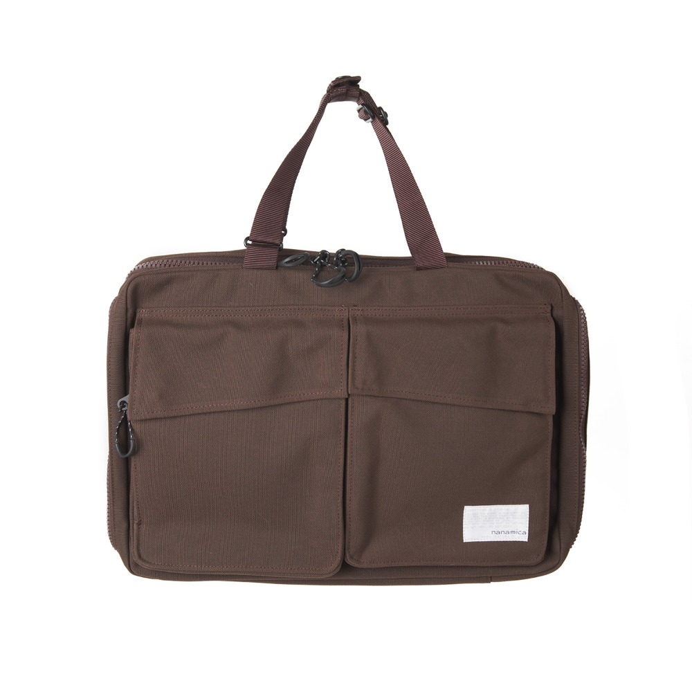 "NANAMICA 3way Briefcase ""Dark Brown"""
