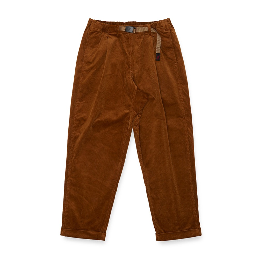 "GRAMICCI Corduroy Tuck Tapered Pants ""Camel"""