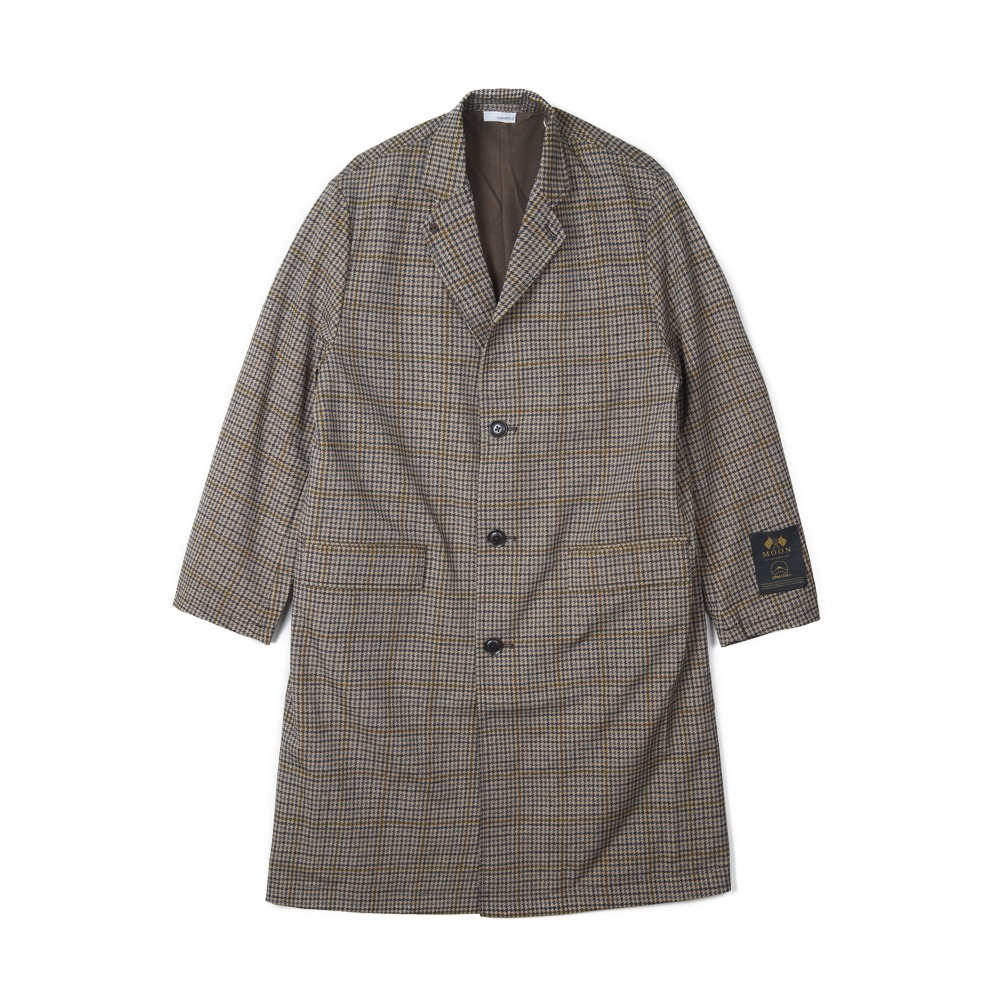 "NANAMICA ALPHADRY Chesterfield Coat ""Gun Club Check"""