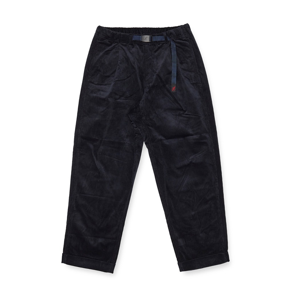 "GRAMICCI Corduroy Tuck Tapered Pants ""Double Navy"""