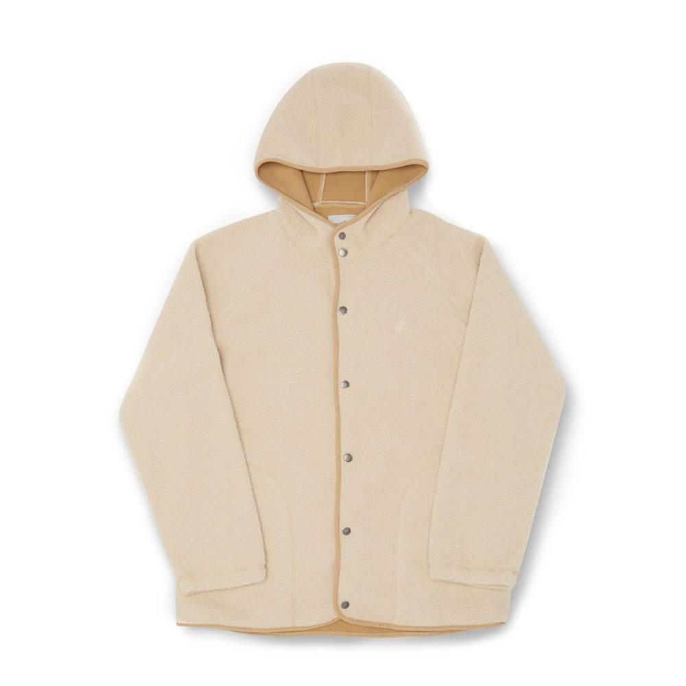 "GRAMICCI Boa Fleece Hooded Coaches Jacket ""Ivory"""