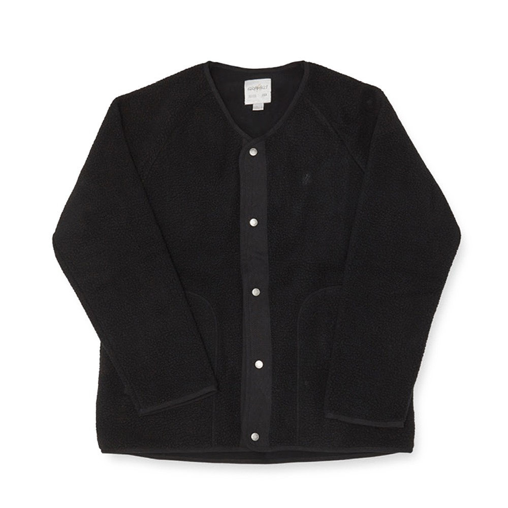 "GRAMICCI Boa Fleece Jacket ""Black"""