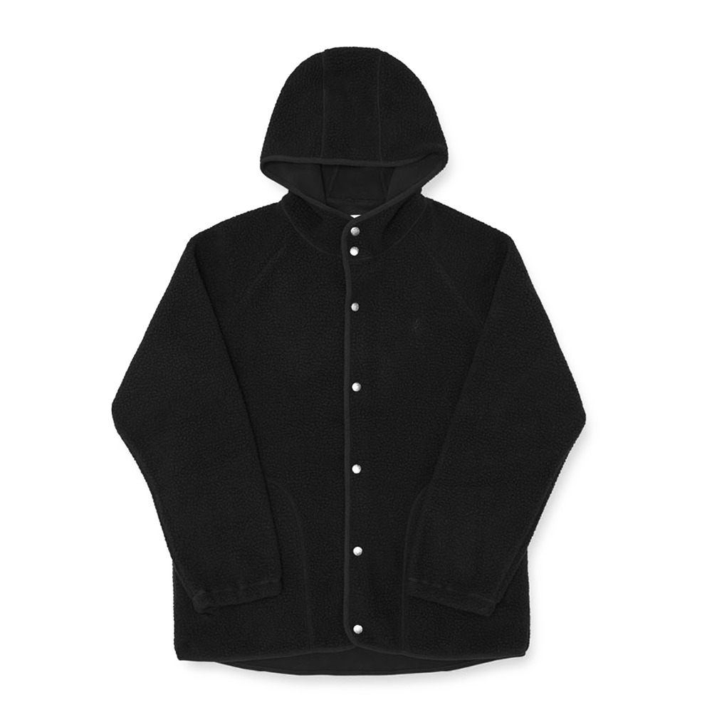 "GRAMICCI Boa Fleece Hooded Coaches Jacket ""Black"""
