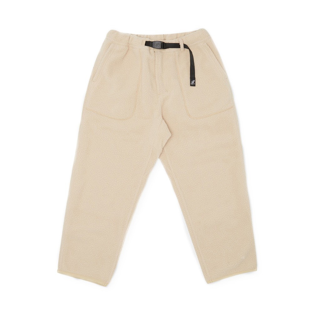 "GRAMICCI Boa Fleece Loose Tapered Pants ""Ivory"""